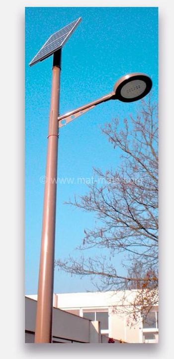 mat-eclairage-solaire-autolux - mât éclairage public
