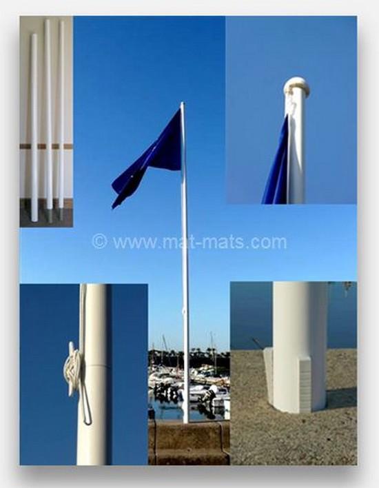 mat-eco-express - mât pour drapeau