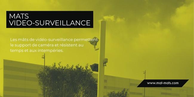 vidéo surveillance - mât pour caméra en situation