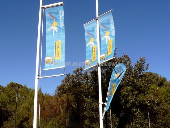 support drapeau -potences pour mâts et bannières