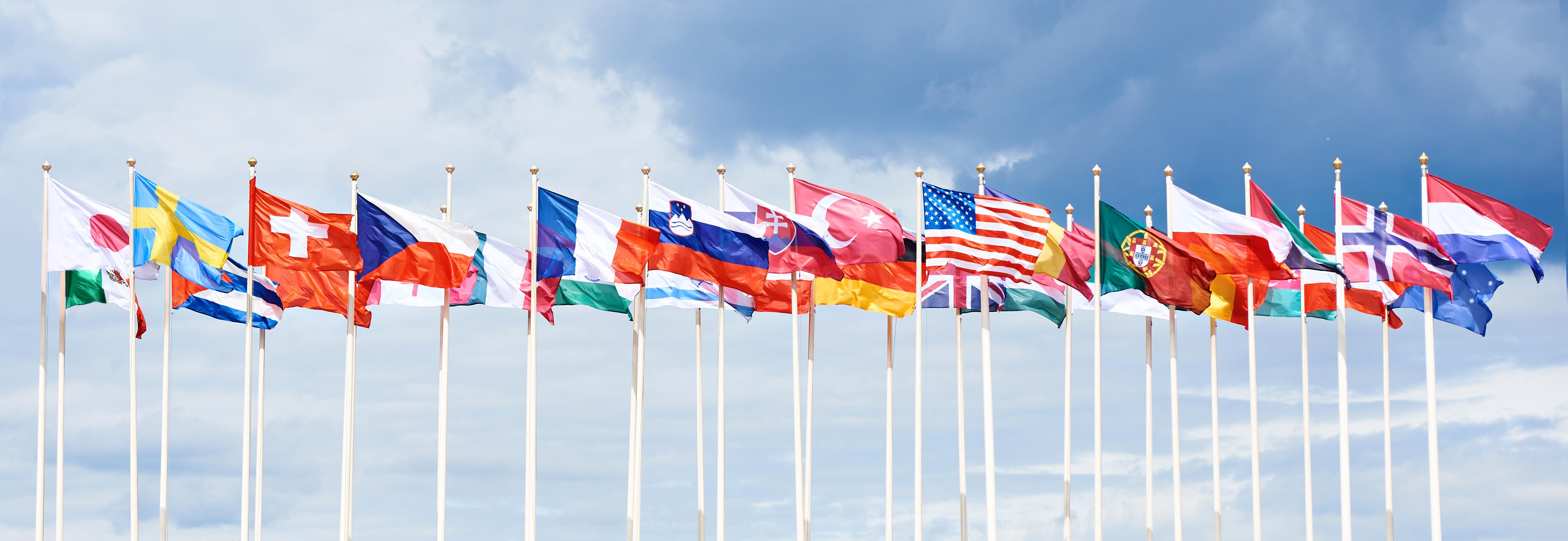 signalétique et mâts : les nations du monde