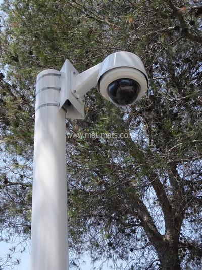 mât de vidéo caméra pour la vidéosurveillance