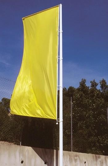 Mât pour drapeau en fibre de verre avec bannière et potence - modèle Alizé