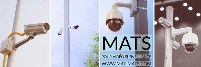 mâts de vidéo surveillance comme supports caméras